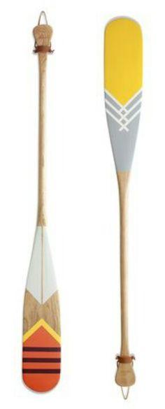 Painted oar