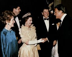 Ronald and Nancy Reagan invited Billy to meet with Queen Elizabeth in 1983.