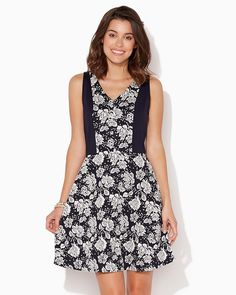 charming charlie | Rose Garden Colorblock Dress | UPC: 3000687854 #charmingcharlie