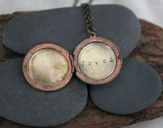 a reminder today that you, yes you, are loved. :: a hand stamped soul mantra locket