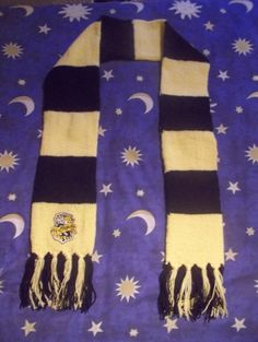 Harry Potter Hogwarts-Style Scarf: Hufflepuff with patch