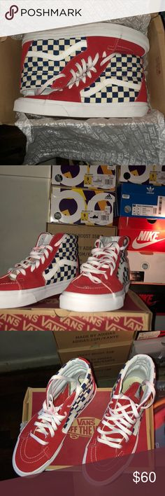 Vans checkerboard sk8-hi men s US9 Vans checkerboard vans in a men s US9.  Only 3db23cd12