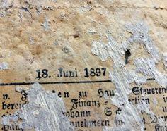 Zeitung Tapete zeitung vom 18 juni 1897 unter zahlreichen tapetenschichten