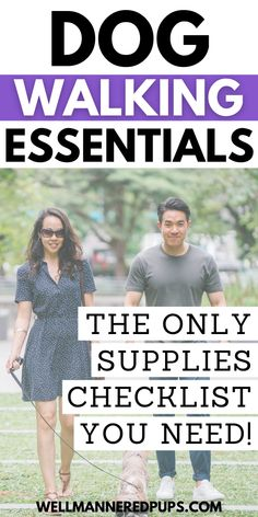 Dog walking essentials: The only supplies checklist you need for a successful walk with your dog. #dogwalking #dogs #dogowner