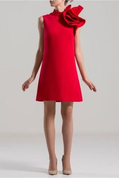 SAIID KOBEISY on Sale: Red Sleeveless High Neck Dress style dress Buy from Best selection of authentic designer dresses online. Long Mermaid Dress, Full Length Gowns, Dress Cuts, Prom Party Dresses, V Neck Dress, Buy Dress, Dresses Online, Fashion Dresses, Dresses With Sleeves