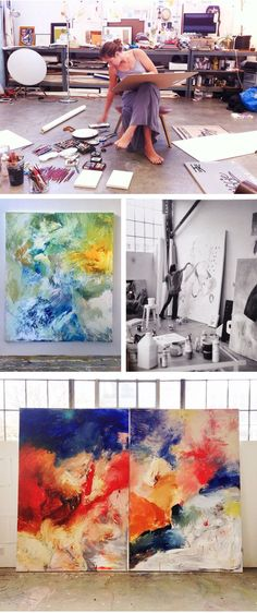 """Elle Luna working in her studio ( <a href=""""http://elleluna.compost/61247030862/i-spent-the-afternoon-painting-and-drawing-my"""" rel=""""nofollow"""" target=""""_blank"""">elleluna.com...</a> ) http://elleluna.compost/61247030862/i-spent-the-afternoon-painting-and-drawing-my"""