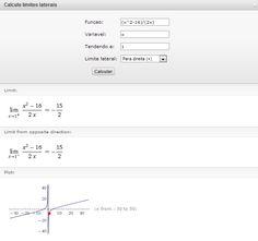 Calcule limites laterais online com este Widget - Prof. Edigley Alexandre