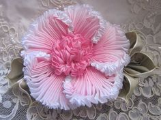 Vintage Style French Ombre Millinery Ribbon Flower Pin Ribbonwork | eBay: