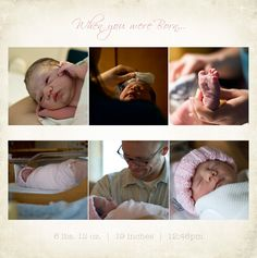 """When you were born""  Little Red Wagon Photography: DIY Modern Baby Books"