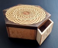 Lotus Box. Another Kagen Puzzle Box