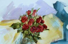 Watana Kreetong Red Roses /2015 38x56cm