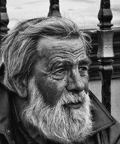 Sunburnt old men with eyes that speak of stories.