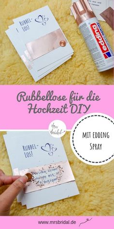 Rubbellose mit edding Spray selber basteln - Aktuell bin ich im Spray-Fieber! - Rubbellose mit edding Spray selber basteln – Aktuell bin ich im Spray-Fieber! Diy Wedding Shoes, Diy Wedding Veil, The Wedding Date, Gold Wedding, Wedding Hair, Space Wedding, Dream Wedding, Diy For Wedding, Wedding Makeup