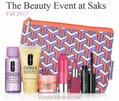 Fall Clinique bonus at Saks.com - yours with $50 purchase. http://cliniquebonus.org/clinique-bonus-time/
