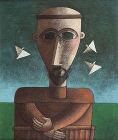 São Francisco Inos Corradin (Itália/Brasil, 1929) óleo sobre eucatex, 38 x 32 cm