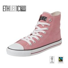 Fair Trainer Hi Cut Collection15 Ice Cream Pink | Just White - Ethletic