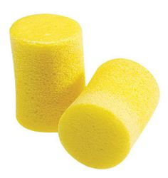 3M Single Use Classic Cylinder Shape PVC Foam Uncorded Earplugs (1 Pair Per Poly Bag, 200 Pair Per Box)