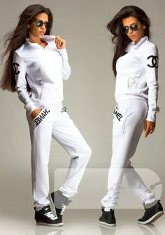 white tracksuit womens - Google Search