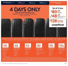 Walmart Black Friday 2019 Ads and Deals Browse the Walmart Black Friday 2019 ad scan and the complete product by product sales listing. Walmart Black Friday Ad, Black Friday News, Black Friday 2019, Goodyear Wrangler, Goodyear Tires, Christmas Deals, Printable Coupons, Ads