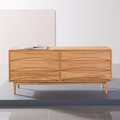 Icon By Design Arne 6 Drawer Chest - Solid Oak $1999