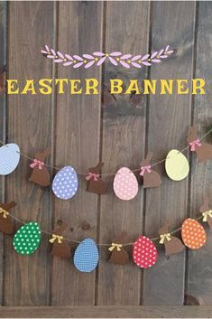 Cute Easter Egg garland for home decor or party decor! #easter #decor #photoprops #affilink