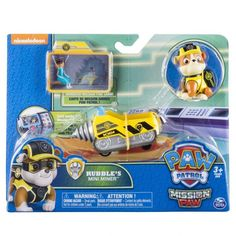 Paw Patrol Mission Paw - Rubble's Mini Miner - Figure and Vehicle, Multicolor Paw Patrol Figures, Paw Patrol Toys, Dog Man Book, Unicorn Rooms, Princess Flower Girl Dresses, Ready To Roll, How Big Is Baby, Big Baby, Spiderman Art