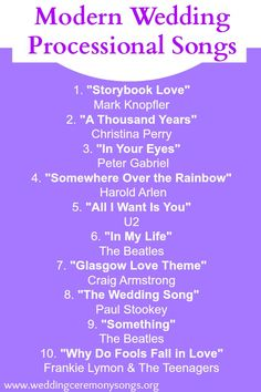 10 Songs for your Wedding Recessional. I love all of these fun ...