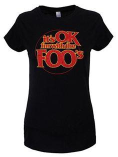 Foo Fighters I'm With The Foos Damen T-Shirt schwarz. Offiziell lizenziert #t-shirt #offduty #women #covetme #foofighters