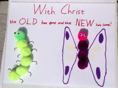 Cotton Ball Caterpillar Craft for Kids http://www.childrens-ministry-deals.com/blogs/news/14208285-vbs-craft-ideas-for-kids-and-preschoolers