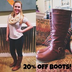 Today is the 11th day of our 12 Days of Christmas Sale! Come by Evolve today and enjoy 20% off boots! (Excludes Diamond T Boots)
