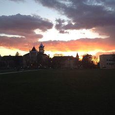Utah state people! #usu #logan #sunset #aggies #frisbeeatdusk