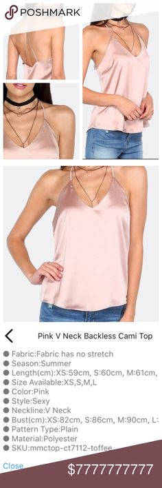 """💕COMING SOON! Gorgeous Blush Pink Cami!💕 💕GORGEOUS BLUSH PINK CAMISOLE! Wear this to a holiday party or under a jean jacket for a chic and sexy look!💕 """"Like"""" to be notified via price drop when this beauty arrives! This item is brand new from the manufacturer without tags. See sizing above, and please ask all questions before purchasing. Price firm unless bundled. TonisTwinkles Intimates & Sleepwear"""