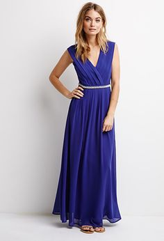 Bejeweled Waist Maxi Dress | Forever 21 | #styleguide