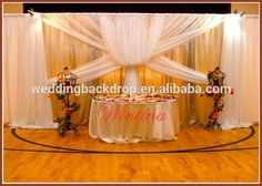 adjustable pipe and drape for wedding chuppah or trade show or outdoor party