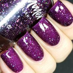 KBShimmer Witch Way Jelly Glitter Nail Polish - Nägel Frühling Purple Nail Polish, Glitter Nail Polish, Nail Polish Colors, Holographic Glitter, Nail Polishes, Gel Polish, Coffin Nails Matte, Acrylic Nails, Stiletto Nails
