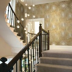 Seabrook Nouveau Luxe. Catwalk Starburst Wallpaper
