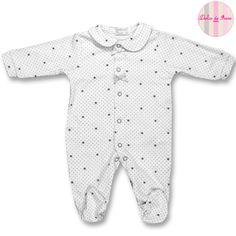 Pijama 100% algodón con puntitos y estrellas XX