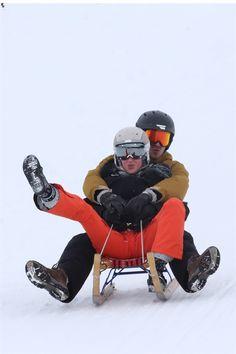 A St. Moritz la coppia gareggia con la sorella di lei, Matilde, e il marito Antonius Von Furstenberg