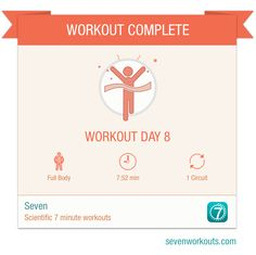 Just finished workout day 8 with Seven! #SevenApp