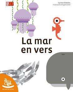"""""""La mar en vers"""" de Carmen Ribelles amb il·lustracions de Eugenio Simó."""