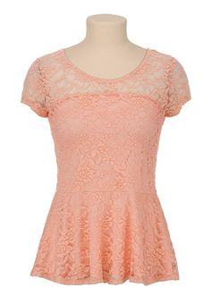 Floral Lace Peplum Top for Kelly Campbell