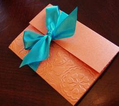 Handmade Embossed Shower Invitation by anaderoux on Etsy, $2.50