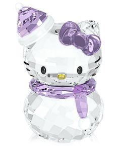Swarovski Collectible Figurine, Hello Kitty Snowman