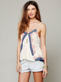 Free People Mixed Print Tank at Free People Clothing Boutique