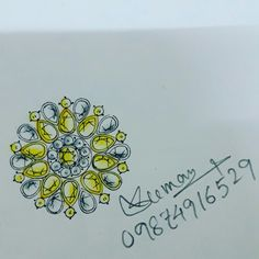 This is my new design...white and yellow stone communication...ring..!