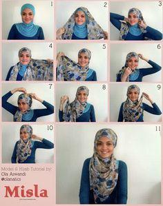 Koleksi terbaru tentang contoh | gambar | foto | kreasi | fashion | model | style  dan tutorial cara memakai hijab modern simple sesuai trend terkini