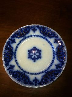 "Beautiful Flow Blue ""Albany"" 8 inch Plate Mint 