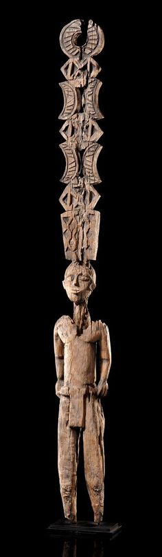 "Africa | Tomb stela ""aloala"" from the Mahafaly people of Madagascar 