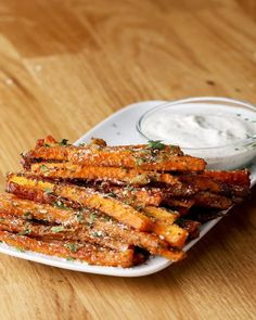 """Carrot fries are mega easy to prepare and delicious .-Möhren-""""Pommes"""" sind mega einfach zuzubereiten und voll lecker Carrot fries are mega easy to prepare and delicious - Healthy Food Recipes, Healthy Snacks, Healthy Eating, Cooking Recipes, Healthy Fries, Delicious Recipes, Recipe Tasty, Salad Recipes, Carrot Recipes"""