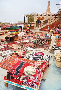 It is a wonderful rug world out there... Souk at Doha, Qatar